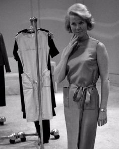Doris at Bergdorf Goodmans trying on wardrobe for That Touch of Mink.