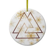 The Norse Valknut Symbol - 7 - Ornament #stockingstuffer #pagan #norse #witch #witchcraft #yule #christmas #ornament #asatru #odinism