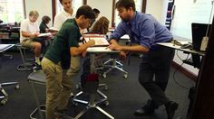 Cetrix shows how students use LearnFit standing desks to improve focus and classroom engagement Grade 8 Classroom, Middle School Classroom, English Classroom, Classroom Design, Student Teacher, Student Work, Student Learning, Teacher Stuff, Classroom Organization