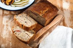 Plum and Pear Banana Bread