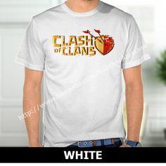 Clash of Clan Gaming Logo Broken T-Shirt White