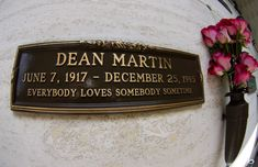Dean Martin's last resting place (Dec. Cemetery Headstones, Old Cemeteries, Graveyards, Cemetery Monuments, Famous Tombstones, Challenge Games, Famous Graves, Six Feet Under, Jerry Lewis