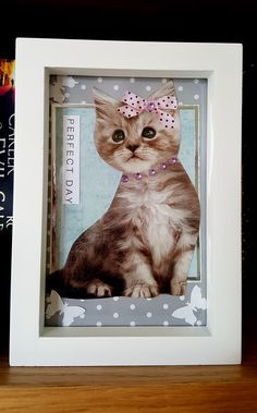 Perfect Day (framed) - artwork by Rita Dabrowicz How To Make Paper, Framed Artwork, Cat, Shop, Handmade, Home Decor, Homemade Home Decor, Cat Breeds, Interior Design