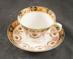 ROYAL ALBERT FINE BONE CHINA  CUP & SAUCER  EARLY BACK STAMP HAND PAINTED #RoyalAlbert