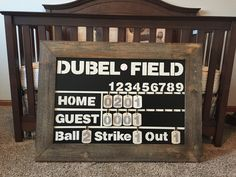 Love My DIY Baseball Scoreboard For Our Baby Nursery