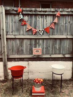 Apple bobbing. Hand painted bunting. DIY. Hand painted signage. Great party ideas. Apple Bobbing, Bobbing For Apples, Carnival Party Games, Painted Bunting, Vintage Carnival, Handmade Art, Signage, Arts And Crafts, Party Ideas