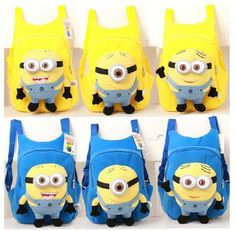 Despicable Me Minions boy girl Kindergarten backpack baby plush toy children school bag  $16.99   3.25-3.27