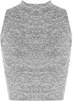 WearAll - Femmes Sans Manches Étendue Tricoté Tortue Cou Tondu Court Gilet Haut - Hauts - Femmes - Tailles 34-42
