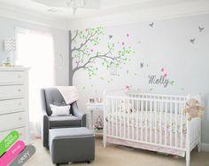Tree wall decals wall decor nursery wall mural children room stickers KR076 #Handmade