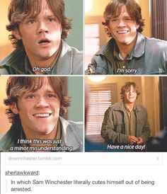 Sam Winchester, you adorable baby moose.
