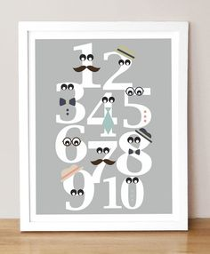 Count to ten with a debonair Mister Numbers print