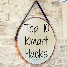 Top 10 easy kmart hacks using the kmart arrow light, plant stand, pineapple jar, shadow box, kmart house and hanging mirror for the Oh So Busy Mum (kmart hacks)