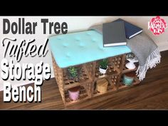 Dollar Tree DIY Tufted Storage Bench made of Dollar Tree storage crates. This DIY Tufted bench is DIY Hack. DIY Storage Bench has a removable tufted . Cube Storage Bench, Tufted Storage Bench, Crate Storage, Paint Storage, Tufted Bench, Furniture Storage, Storage Baskets, Crate Shelves, Crate Bench