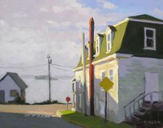 """Timothy Horn > """"Mansard at Dawn"""" Landscape Art, Landscape Paintings, Landscapes, Paintings I Love, Beautiful Paintings, Bay Area Figurative Movement, Fairfield Porter, House Painters, American Realism"""