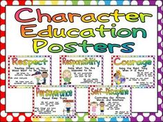 Character Education Posters and Writing Prompts!! $