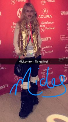 """Mickey from the film """"Tangerine"""" stops for a moment during the 2015 #Sundance #Film Festival."""