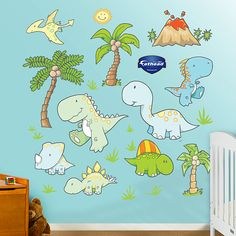 Baby Dinosaurs, my son would love this in his room!