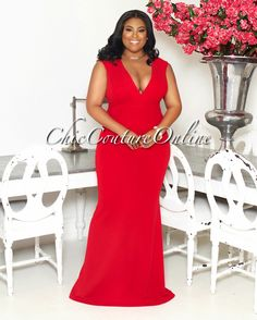 Chic Couture Online - Symphony Red CURVACEOUS Maxi Dress.(http://www.chiccoutureonline.com/symphony-red-curvaceous-maxi-dress/)