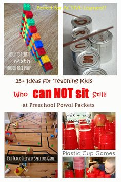 Do you have active kids? More than 25 brilliant ideas for teaching kids who can NOT sit still! Use these at home or school!
