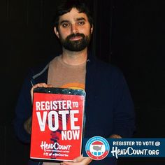 Thanks to HeadCount for all the great work they did registering voters at our shows this year. Hopefully you've registered, and if so, please make sure to get out and vote.  We've been quiet this election aside from registration drives, but we feel compelled to say our support is with Hillary Clinton today.  To those who share a similar world view to us but are choosing to stay home or vote for a 3rd party as a protest because you think there is no difference between Clinton and Trump, we…