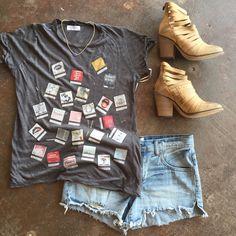 Lauren Moshi tee// Free People booties// Free People shirts// Kendra Scott necklace @sohoclothiers