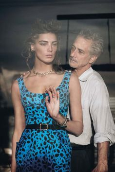 Daria Werbowy, David Strathairn by Peter Lindbergh THIS PICTURE