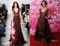 Crystal Renn in Pamella Roland | New Yorkers for Children's A Fool's Fete: Enchanted Garden