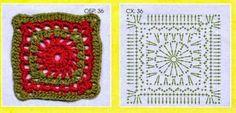 Los famosos cuadros de la abuela tejidos al crochet  tienen un esquema sencillo, y una calidez increíble: quién no recuerda una manda o al...