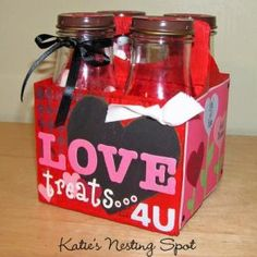 Katie's Nesting Spot: Love Treats: Upcycled Starbucks Drink 4 Pack