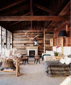 Jagdgut Wachtelhof Lodge in Austria strutting their man stuff.  Featured in Lonny Magazine.