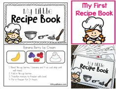 My First Recipe Book - Recipes for kids! Easy to follow instructions and pictures to aid in the kitchen!