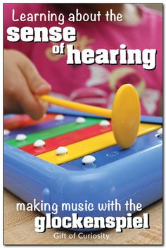 Learn about the sense of hearing by playing Montessori-inspired music games on the glockenspiel