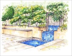 Perspective Drawings - Botanica Atlanta | Landscape Design-Build-Maintain
