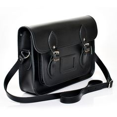 Zatchels Black Leather Satchel ($125) ❤ liked on Polyvore