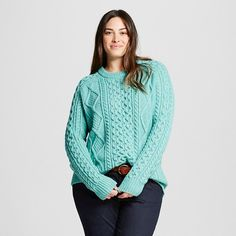 Plus Size Cable-Knit Sweater | Plus Size Fashion | Pinterest ...