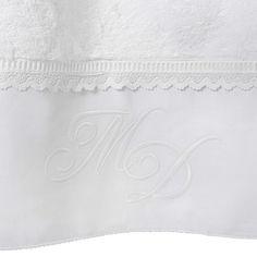 Handtuch ROMANCE aus Baumwolle, 50 x 100cm, weiß<br />