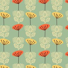 Springtime in Oslo fabric by joanne_headington on Spoonflower - custom fabric