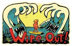 Vintage Style Wipe Out Surfboards California California
