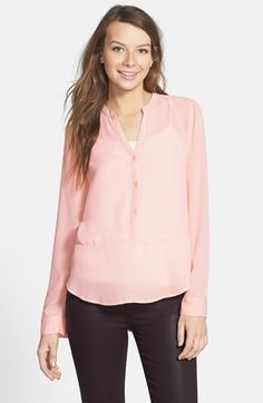 Frenchi Long Sleeve Top (Juniors)   Nordstrom