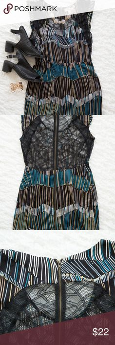 Urban Outfitters Silence + Noise dress Great dress with back lace detail. Only worn a few times. Would make a fun New Years eve dress. silence + noise Dresses