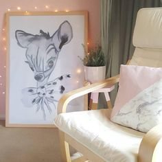 This gorgeous fawn is dressed in her finest bow tie and uses her big doe eyes to charm the toughest of creatures.  Our beautiful art prints are made with love from our original watercolour paintings and inkjet printed on 200GSM card. https://littleraeprints.com/collections/prints/products/little-doe #littleraeprints #littledoe #watercolour #prints #bedroomdecor #childrensbedroomdecor #art