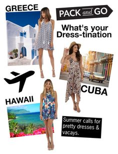 """What's your Dress-tination?"" by windsorstore on Polyvore featuring Summer, dresses, vacation, Vacay and WINDSORSTORE"