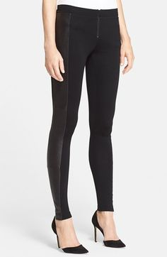 alice + olivia leather trim ponte knit leggings // on sale now during Nordstrom's Anniversary Sale of all new pre-fall and fall products!