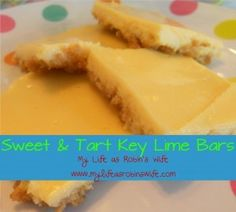 Sweet and Tart Key Lime Squares