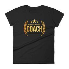 $24. Women's World's Okayest Coach t-shirt , cheerleading coach, coach gift idea, best coach gift, baseball coach gifts, coach gift team gift coach #cheerleading #ad