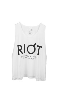 Cropped Riot Tank Athletic Tank Tops, Street Wear, Collection, Women, Fashion, Moda, Women's, La Mode, Fasion