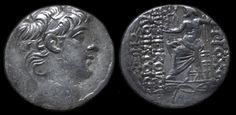 Antiochus X Eusebes Philopator (95-92 BC) Silver Tetradrachm Greek Hellenistic…