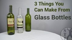 """Have you seen the video """"5 Things You Can Make From Glass Bottles""""? This video is kind of a second part.... This time only 3 things to make the video shorter."""