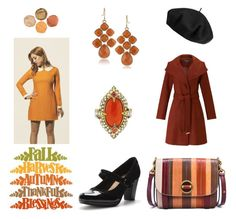 Polyvore outfits fall Vintage Autumn by geminae on Polyvore featuring Miss Selfridge, Clarks, Tory Burch, Cathy Waterman, Betmar, vintage, Fall, autumn, orangeandblack and falltrend