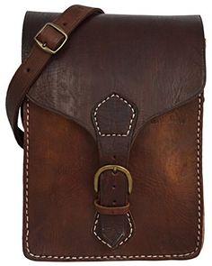 "Gusti Leder nature ""Robert"" Genuine Leather Satchel Shoulder Bag Handbag College Style Casual Everyday Cross Body Bag Dark Brown Unisex M4"